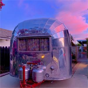 1955 Vintage Airstream Bubble Whale Tail 16' 1750 Pounds
