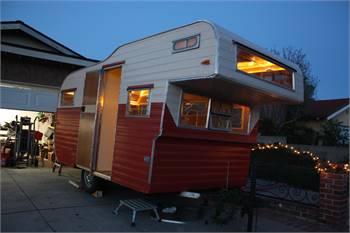 Vintage Rebuilt 1960's Aljo Travel Trailer - Solar
