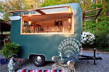 Amazing Speakeasy style mobile bar, coffee, event trailer! Custom rebuild, ready for work today!