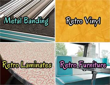 Metal Banding, Laminates, Vinyl and Retro Furniture