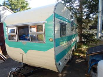 Rare Vintage 1956 Dalton Travel Trailer